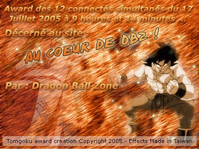 Awards de au coeur de dragon ball - Au coeur de dragon ball ...